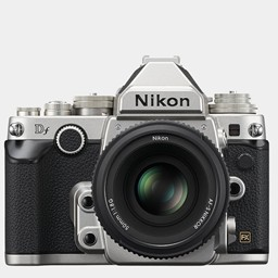 Nikon DSLR Camera DF Silver with AF-S NIKKOR 50mm f/1.8G Kit